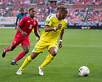 CLEVELAND, OH - JUNE 22: Neil Danns #16 during a game between Panama and Guyana at FirstEnergy Stadium on June 22, 2019 in Cleveland, Ohio.