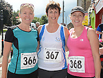 Christine Callan, Eithne Murray and Eithne McGorman who took part in the Turfman 10K run in Ardee. Photo:Colin Bell/pressphotos.ie
