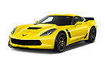 2019 Chevrolet Corvette Z06 Coupe 1LZ 3 Door Targa angular front stock photos of front three quarter view