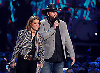 NASHVILLE, TN - JUNE 5: Brandi Carlile and Chris Sullivan appear on the 2019 CMT Music Awards at Bridgestone Arena on June 5, 2019 in Nashville, Tennessee. (Photo by Frederick Breedon/PictureGroup)