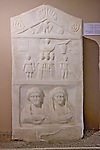 Grave Stele Of Gaius And Aphion - Roman Period, Istanbul Archaeology Museum