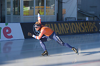 SPEED SKATING: COLLALBO: Arena Ritten, 11-01-2019, ISU European Speed Skating Championships, training, Douwe de Vries (NED), ©photo Martin de Jong