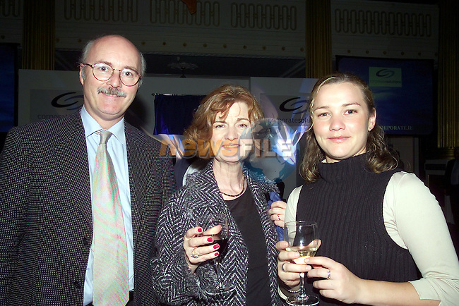 Kevin Buckley MD Compustore,Aine Buckley and Aine Finnegan.Pictured  at the Launch of Corporate Solutions in Dublin castle..No Repo Fee..Picture Fran Caffrey Newsfile...This Picture is sent to you by:..Newsfile Ltd.The View, Millmount Abbey, Drogheda, Co Louth, Ireland..Tel: +353419871240.Fax: +353419871260.GSM: +353862500958.ISDN: +353419871010.email: pictures@newsfile.ie.www.newsfile.ie