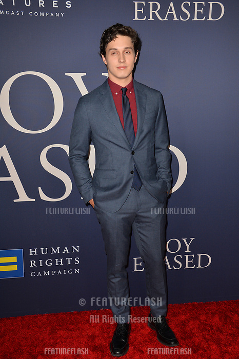 LOS ANGELES, CA. October 29, 2018: Josh Scherer at the Los Angeles premiere for &quot;Boy Erased&quot; at the Directors Guild of America.<br /> Picture: Paul Smith/Featureflash