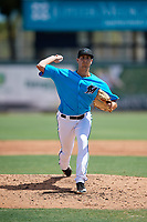 Miami Marlins pitcher Bryan Hoeing (33) during an Instructional League game against the Washington Nationals on September 25, 2019 at Roger Dean Chevrolet Stadium in Jupiter, Florida.  (Mike Janes/Four Seam Images)
