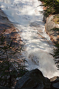 Crawford Notch State Park - Ripley Falls during the spring months. Ripley Falls is on Avalanche Brook and located next to the Arethusa-Ripley Falls Trail in Harts Location, New Hampshire USA
