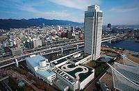 Hotel Okura and city skyline, Kobe, Japan