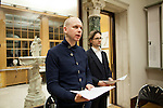 """16.1.2012. Haus der Wannsee-Konferenz Berlin. Proben zum Dokumentar-Theater """"Die Wannsee-Konferenz""""."""