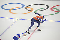 OLYMPIC GAMES: PYEONGCHANG: 23-02-2018, Gangneung Oval, Long Track, 1000m Men, Kjeld Nuis (NED), ©photo Martin de Jong