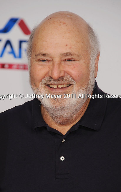 LOS ANGELES, CA - FEBRUARY 20: Rob Reiner  arrives at the T-Mobile Magenta Carpet at the 2011 NBA All-Star Game at L.A. Live on February 20, 2011 in Los Angeles, California.