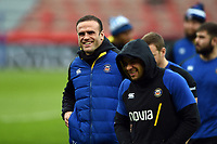 Jamie Roberts of Bath Rugby looks on prior to the match. Heineken Champions Cup match, between Stade Toulousain and Bath Rugby on January 20, 2019 at the Stade Ernest Wallon in Toulouse, France. Photo by: Patrick Khachfe / Onside Images