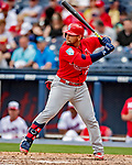 26 February 2019: St. Louis Cardinals catcher Jose Godoy at bat during a Spring Training game against the Washington Nationals at the Ballpark of the Palm Beaches in West Palm Beach, Florida. The Cardinals defeated the Nationals 6-1 in Grapefruit League play. Mandatory Credit: Ed Wolfstein Photo *** RAW (NEF) Image File Available ***