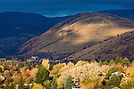 Mount Jumbo and fall color in the valley of Missoula, Montana