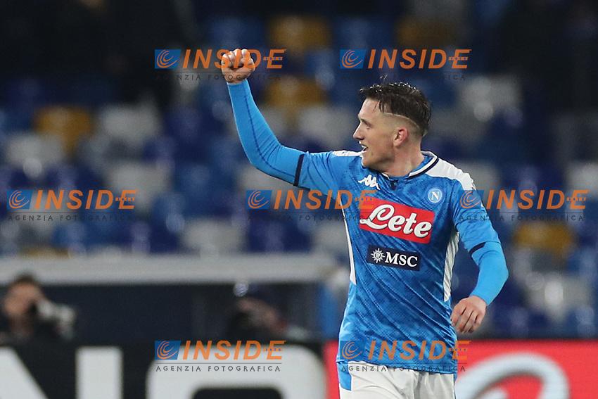 Piotr Zielinski of Napoli celebrates<br /> Napoli 26-01-2020 Stadio San Paolo <br /> Football Serie A 2019/2020 SSC Napoli - Juventus FC<br /> Photo Cesare Purini / Insidefoto