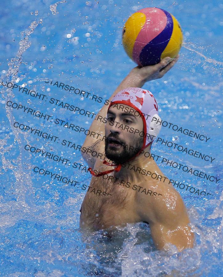 Vaterpolo Water polo.Crvena Zvezda v Partizan.Nikola Radjen .Beograd, 09.11.2012..foto: Srdjan Stevanovic/Starsportphoto ©