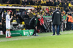 05.02.2019, Signal Iduna Park, Dortmund, GER, DFB-Pokal, Achtelfinale, Borussia Dortmund vs Werder Bremen<br /> <br /> DFB REGULATIONS PROHIBIT ANY USE OF PHOTOGRAPHS AS IMAGE SEQUENCES AND/OR QUASI-VIDEO.<br /> <br /> im Bild / picture shows<br /> Florian Kohfeldt (Trainer SV Werder Bremen) ver&auml;rgert / emotional in Coachingzone / an Seitenlinie nach 3:2 F&uuml;hrung f&uuml;r Dortmund, <br /> <br /> Foto &copy; nordphoto / Ewert