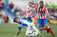 22.04.2012 MADRID, SPAIN - La Liga 11/12 match played between At. Madrid vs R.C.D. Espanyol (3-1) at Vicente Calderon stadium. the picture show Mario Suarez Mata (Spanish midfielder of At. Madrid)