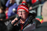 Fleetwood Town announcer ahead of the Sky Bet League 1 match between Fleetwood Town and MK Dons at Highbury Stadium, Fleetwood, England on 24 February 2018. Photo by David Horn / PRiME Media Images