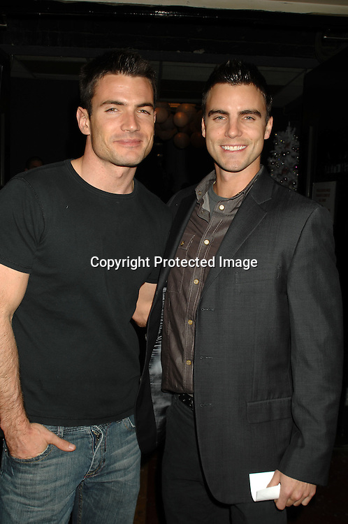 Aiden Turner and Colin Egglesfield..at The All My Children Christmas party on December 8, 2006 at The ABC Studio...Robin Platzer, Twin Images