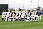 June 17th 2008:  The East Team poses for a photo before the Midwest League All-Star Game at Dow Diamond in Midland, MI.  Photo by:  Mike Janes/Four Seam Images