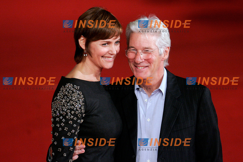 Richard Gere con la moglie Carey Lowell - Rchard Gere and his wife Carey Lowell..Roma 03/11/2011 Richard Gere alla Festa del Cinema di Roma...Photo Samantha Zucchi Insidefoto