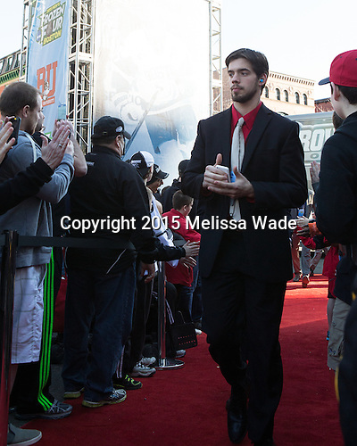 Kyle McKenzie (PC - 5) - The teams walked the red carpet through the Fan Fest outside TD Garden prior to the Frozen Four final on Saturday, April 11, 2015, in Boston, Massachusetts.
