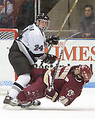 Matt Taormina, Stephen Gionta - The Boston College Eagles defeated the Providence College Friars 4-1 on Saturday, January 7, 2006, at Schneider Arena in Providence, Rhode Island.