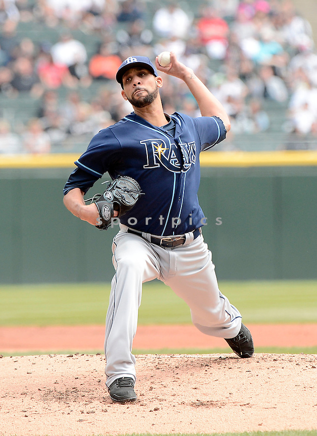 Tampa Bay Rays David Price (14) during a game against the Chicago White Sox on April 28, 2013 at US Cellular Field in Chicago, IL. The Rays beat the White Sox 8-3.