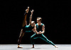 English National Ballet <br /> at Sadler's Wells, London, Great Britain <br /> rehearsal<br /> 22nd March 2017 <br /> <br /> <br /> In The Middle, Somewhat Elevated <br /> by William Forsythe <br /> <br /> Laureata Summerscales <br /> James Streeter <br /> <br /> <br /> <br /> Photograph by Elliott Franks <br /> Image licensed to Elliott Franks Photography Services