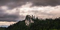 Lake Bled Castle, Slovenia in Bled, Julian Alps, Gorenjska, Upper Carniola Region, Slovenia, Europe