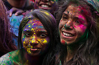 People is painted with colored powder while they attend the Holi Hai festival organized by Indian community in New York City March 31, 2013. Photo by Eduardo Munoz Alvarez / VIEWpress.