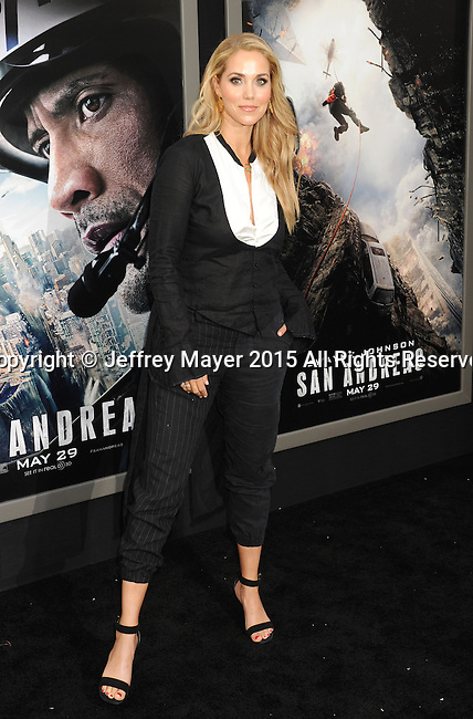 HOLLYWOOD, CA - MAY 26: Actress Elizabeth Berkley arrives at the 'San Andreas' - Los Angeles Premiere at TCL Chinese Theatre IMAX on May 26, 2015 in Hollywood, California.