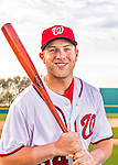 28 February 2016: Washington Nationals catcher Spencer Kieboom poses for his Spring Training Photo-Day portrait at Space Coast Stadium in Viera, Florida. Mandatory Credit: Ed Wolfstein Photo *** RAW (NEF) Image File Available ***