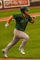 Beloit Snappers first baseman Kyle Nowlin (17) during a Midwest League game against the Wisconsin Timber Rattlers on August 30, 2017 at Fox Cities Stadium in Appleton, Wisconsin. Wisconsin defeated Beloit 4-0. (Brad Krause/Four Seam Images)