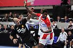 Zoran Roganovic vs Wael Jallouz. TUNISIA vs MONTENEGRO: 27-25 - Preliminary Round - Group A