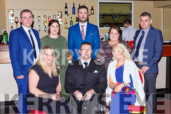 Roy Guerin from the Kingdom Wheel Blaster club which was honoured at the Kerry Sports awards show in the Gleneagle Hotel on Friday night r-l: Terje and Roy Guerin, Liz McMahon. Back row: Shane McMahon, Deirdre Branbury, Tadhg Buckley, Aileen Buckley and Kieran McCArthy