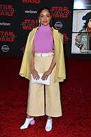 "Tessa Thompson at the world premiere for ""Star Wars: The Last Jedi"" at the Shrine Auditorium. Los Angeles, USA 09 December  2017<br /> Picture: Paul Smith/Featureflash/SilverHub 0208 004 5359 sales@silverhubmedia.com"
