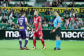 November 4th 2017, nib Stadium, Perth, Australia; A-League football, Perth Glory versus Adelaide United; Diego Castro of the Perth Glory goes to the penalty spot after Perth Glory were awarded a penalty