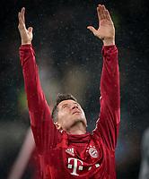 Robert Lewandowski of Bayern Munich pre match during the UEFA Champions League group match between Tottenham Hotspur and Bayern Munich at Wembley Stadium, London, England on 1 October 2019. Photo by Andy Rowland.