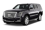 2015 Cadillac Escalade Premium 5 Door SUV 2WD Angular Front stock photos of front three quarter view