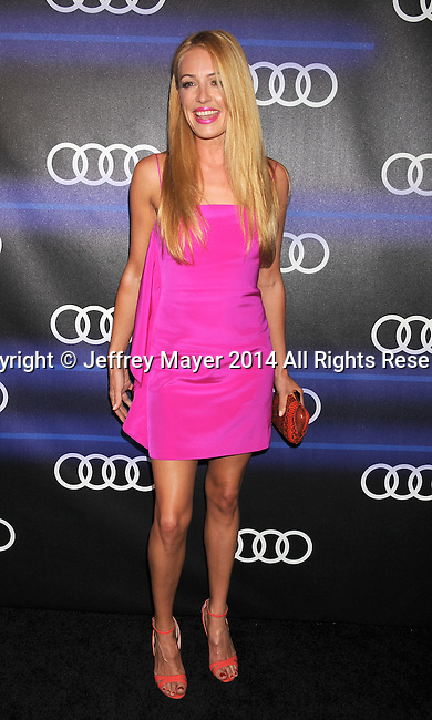 LOS ANGELES, CA- AUGUST 21: TV personality Cat Deeley  arrives at the Audi Emmy Week Celebration at Cecconi's Restaurant on August 21, 2014 in Los Angeles, California.