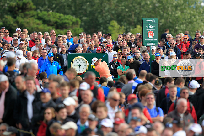Graeme McDowell (NIR) tees off the 14th tee during Friday's Round 2 of the 141st Open Championship at Royal Lytham & St.Annes, England 20th July 2012 (Photo Eoin Clarke/www.golffile.ie)