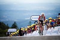 Thomas De Gendt (BEL/Lotto Soudal) finishing atop La Planche des Belles Filles. <br /> <br /> Stage 6: Mulhouse to La Planche des Belles Filles (157km)<br /> 106th Tour de France 2019 (2.UWT)<br /> <br /> ©kramon