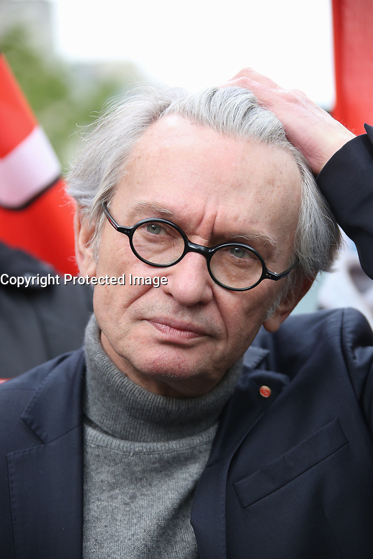 JEAN-CLAUDE MAILLY, SECRETAIRE GENERAL DE FORCE OUVRIERE - MANIFESTATION DU 1ER MAI A PARIS, FRANCE, LE 01/05/2017.