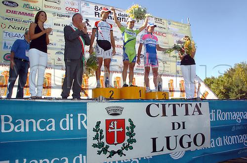 6th Sept 2009, Giro della Romagna Cycling Event, Italy, Liquigas, Ceramica Flaminia - Bossini  Docce, Lampre - Ngc, Fischer Murilo Antonio, Rossi Enrico, Gavazzi Francesco, Lugo. Photo: Stefano Sirotti/ActionPlus.