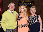 Courtney Waters celebrating her 18th birthday with grandparents Paddy and Tan Waters in The Venue at McHugh's. Photo:Colin Bell/pressphotos.ie