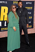 """LOS ANGELES, CA: 27, 2020: Winston Duke & Cora Pantin at the world premiere of """"Spenser Confidential"""" at the Regency Village Theatre.<br /> Picture: Paul Smith/Featureflash"""