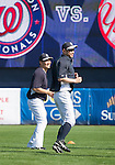 (L-R) Masahiro Tanaka, Ichiro Suzuki (Yankees),<br /> FEBRUARY 23, 2014 - MLB :<br /> New York Yankees spring training camp at George M. Steinbrenner Field in Tampa, Florida, United States. (Photo by Thomas Anderson/AFLO) (JAPANESE NEWSPAPER OUT)