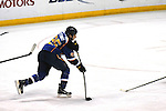 St. Louis Blues right wing Chris Stewart (25) lines up a shot in the second period during a game between the Dallas Stars and the St. Louis Blues on Friday April 19, 2013 at the Scottrade Center in downtown St. Louis.