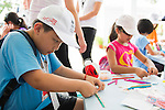 Kids zone in preparation for the UBS Hong Kong Open golf tournament at the Fanling golf course on 21 October 2015 in Hong Kong, China. Photo by Moses Ng / Power Sport Images